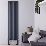"Revive Plus - Anthracite Vertical Double-Panel Designer Radiator - 78.75"" x 18.5"""