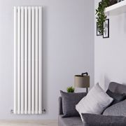 "Revive - White Vertical Double-Panel Designer Radiator - 70"" x 18.5"""
