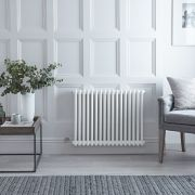 "Regent Electric - White Horizontal 2-Column Traditional Cast-Iron Style Radiator - 23.5"" x 31"""
