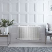 "Regent Electric - White Horizontal 3-Column Traditional Cast-Iron Style Radiator - 23.5"" x 39"""