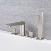 Arcadia - Roman Tub Faucet with Hand Shower - Multiple Finishes Available