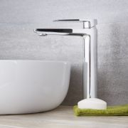 Arcadia - Modern Single-Hole Vessel Faucet - Multiple Finishes Available