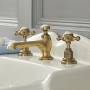 Elizabeth - Traditional Widespread Bathroom Faucet - Brushed Gold