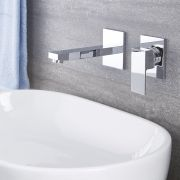 Kubix - Chrome Wall Mounted Bathroom Faucet