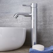 Quest - Single-Hole Vessel Faucet - Multiple Finishes Available