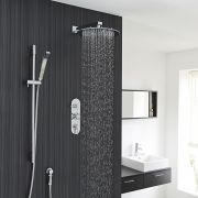 """Tec Thermostatic Shower System with 12"""" Round Head & Arm & Brass Handset"""