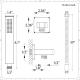 """Arcadia Thermostatic Chrome Shower System with 8"""" Shower Head, Handshower and 4 Body Sprays"""