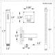 """Eclipse Thermostatic Brushed Nickel Shower System with 8"""" Shower Head, Handshower and 4 Body Sprays"""