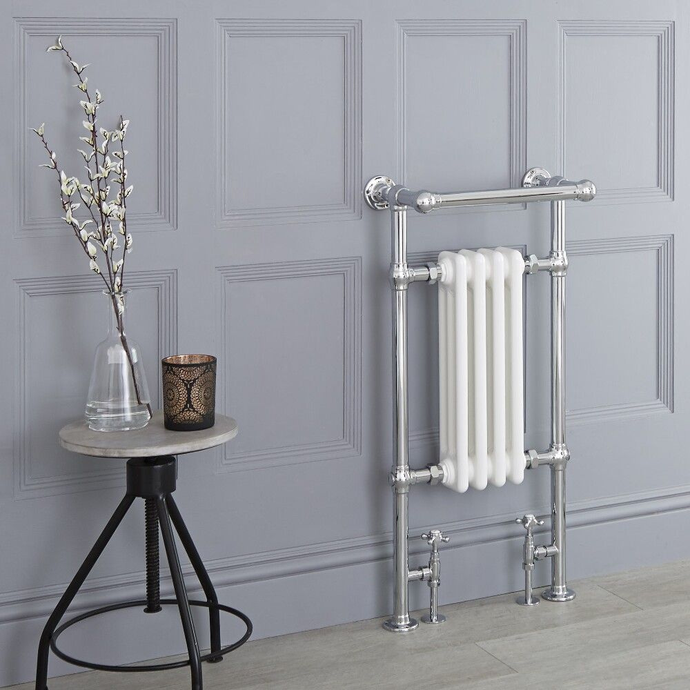 Marquis Traditional Hydronic Heated Towel Warmer With Shelf 36 75 X 17