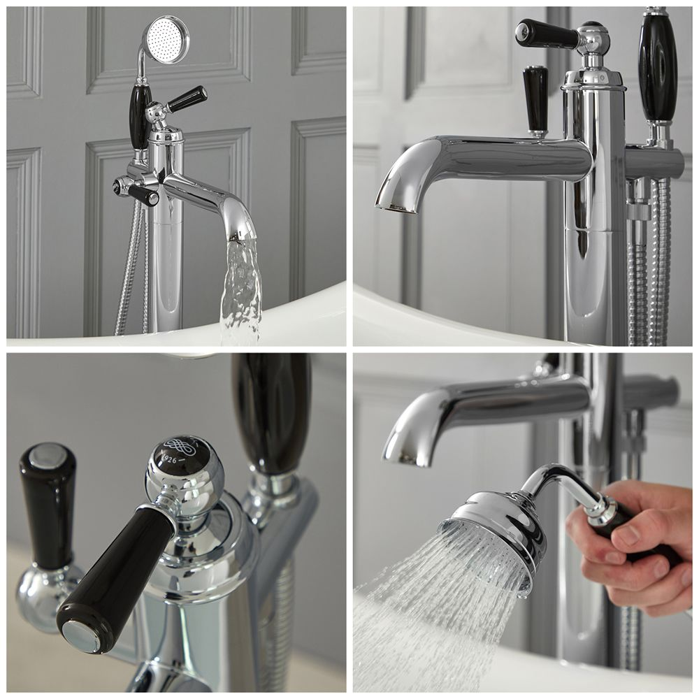 Elizabeth Traditional Freestanding Tub Faucet With Hand