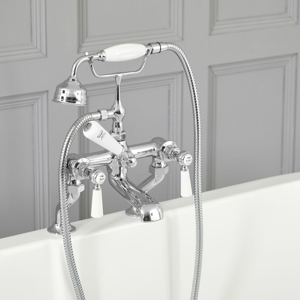 Elizabeth Traditional Deck Mounted Tub Faucet With