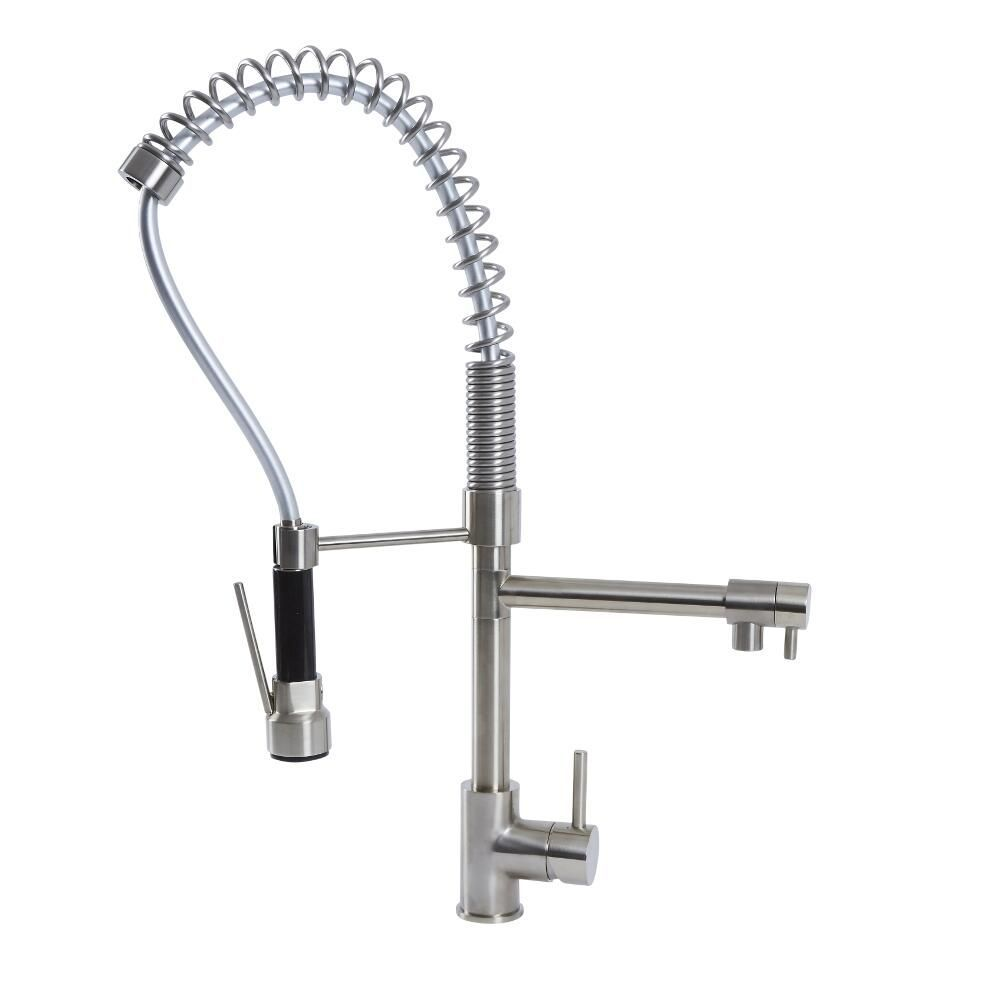 Quest Kitchen Faucet With Spring Spout And Pot Filler