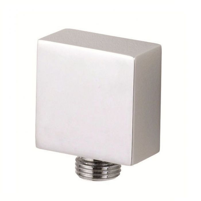 Square Outlet Elbow Chrome Plated Brass