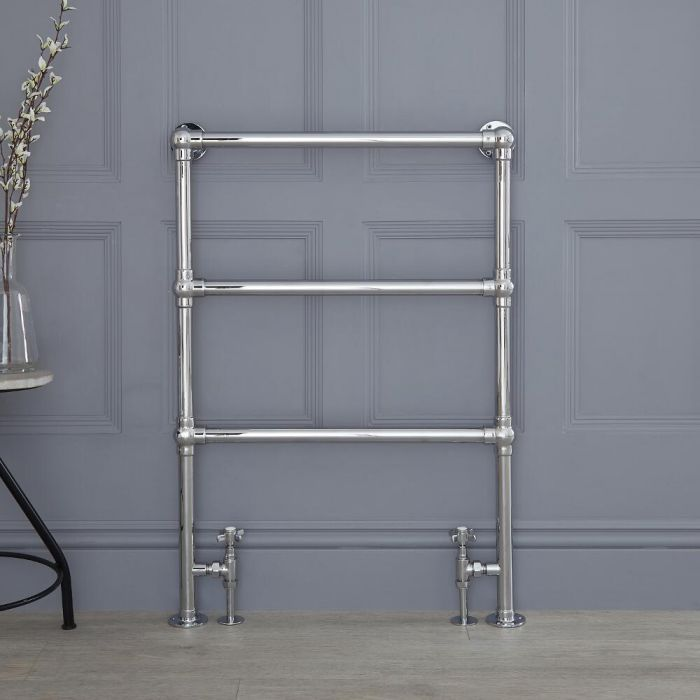 "Condesa - Traditional Hydronic Heated Towel Warmer - 36.5"" x 25"""