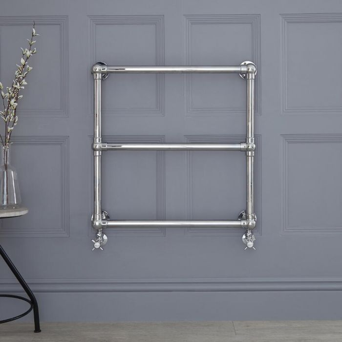 """Condesa - Traditional Hydronic Heated Towel Warmer - 27"""" x 27"""""""