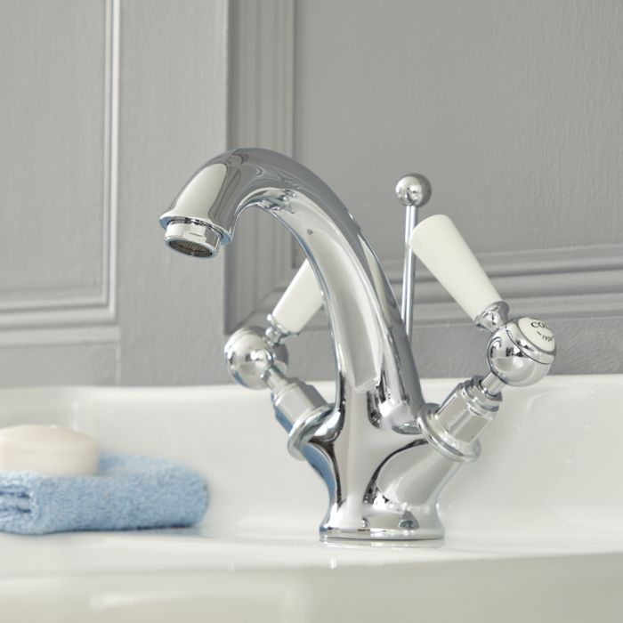 Elizabeth - Traditional Single-Hole Lever Handle Bathroom Mixer Faucet  - Multiple Finishes Available