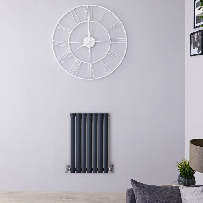 "Revive - Anthracite Horizontal Single-Panel Designer Radiator - 25"" x 16.25"""