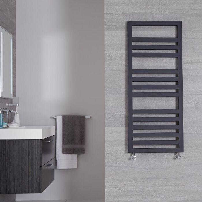 "Ponza - Anthracite Hydronic Designer Towel Warmer - 47.25"" x 19.75"""