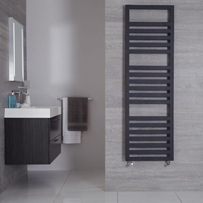 "Ponza - Anthracite Hydronic Designer Towel Warmer - 63"" x 19.75"""
