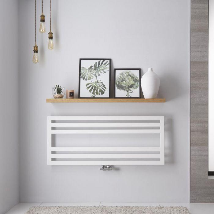"Ponza - White Hydronic Designer Towel Warmer - 19.75"" x 47.25"""