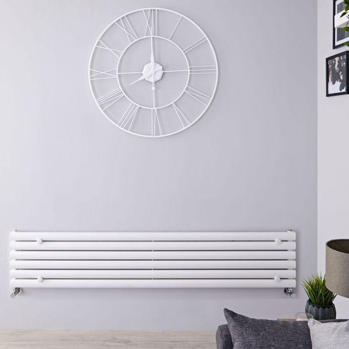 "Revive - White Horizontal Single-Panel Designer Radiator - 14"" x 63"""