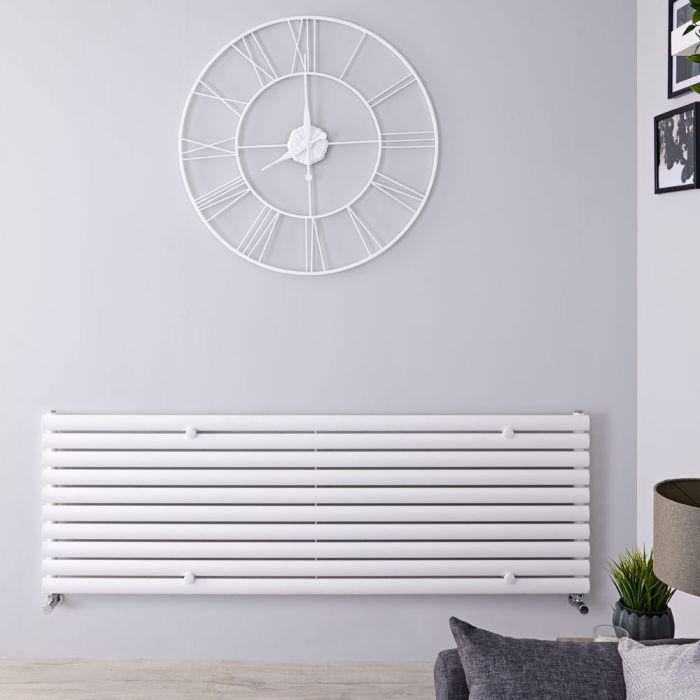 "Revive - White Horizontal Single-Panel Designer Radiator - 23.25"" x 63"""