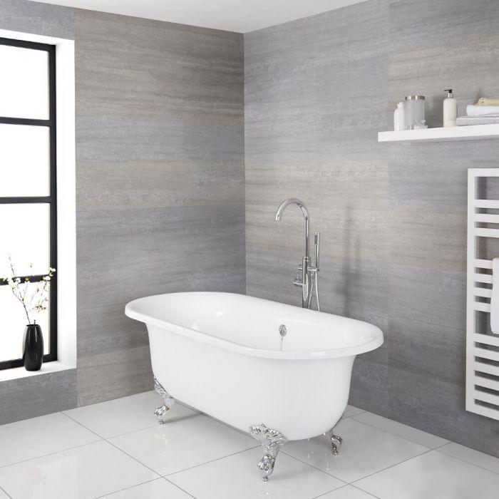"Acrylic Oval Shaped Free Standing Bath Tub with Choice of Feet 70"""