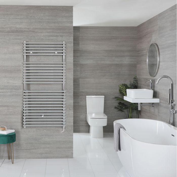 "Arno Electric - Chrome Bar On Bar Towel Warmer - 46 7/8"" x 17 3/4"""
