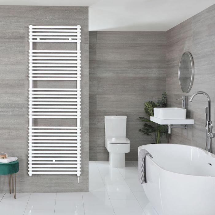 "Arno Electric - White Bar On Bar Towel Warmer - 68 3/8"" x 17 3/4"""