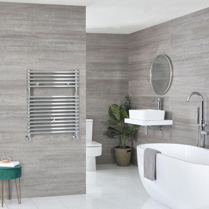 "Arno - Chrome Hydronic Bar On Bar Towel Warmer - 28 3/4"" x 23 5/8"""