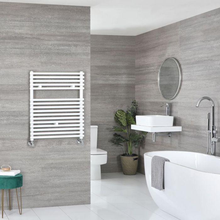 "Arno - White Hydronic Bar On Bar Towel Warmer - 28 3/4"" x 23 5/8"""