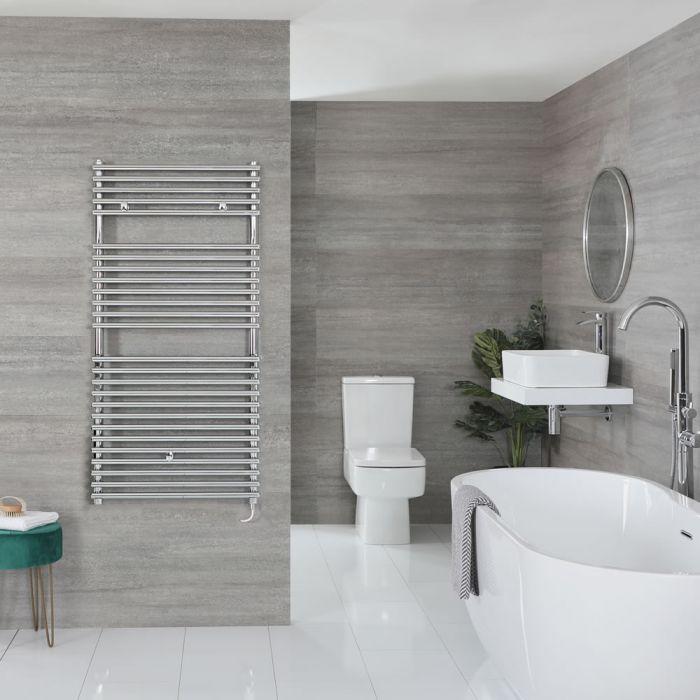 "Arno Electric - Chrome Bar On Bar Towel Warmer - 46 7/8"" x 23 5/8"""