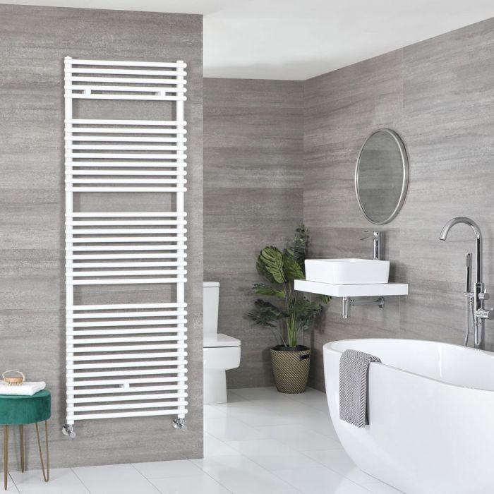 "Arno - White Hydronic Bar On Bar Towel Warmer - 68 3/8"" x 23 5/8"""