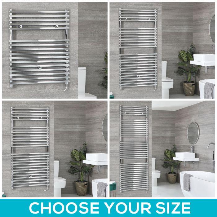Arno Electric - Chrome Bar on Bar Towel Warmer - Choice of Size