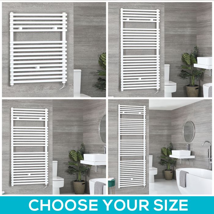 Arno Electric - White Bar on Bar Towel Warmer - Choice of Size