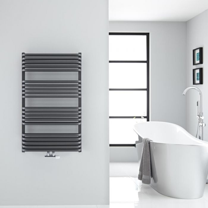 "Arch - Anthracite Hydronic Heated Towel Warmer - 39.25"" x 23.5"""