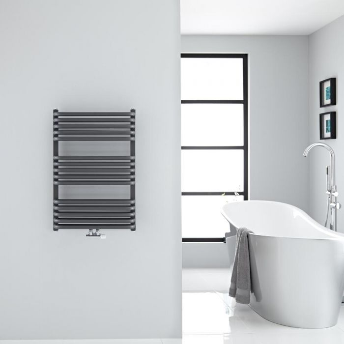 "Arch - Anthracite Hydronic Heated Towel Warmer - 29"" x 19.75"""