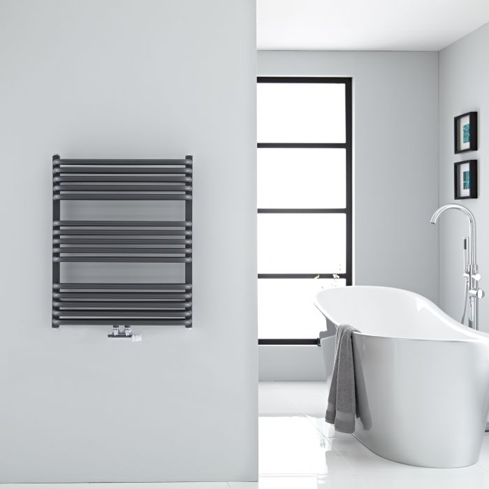 "Arch - Anthracite Hydronic Heated Towel Warmer - 29"" x 23.5"""