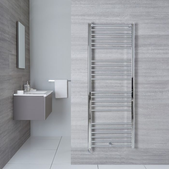 "Eco Electric - Chrome Heated Towel Warmer - 63"" x 19.75"""