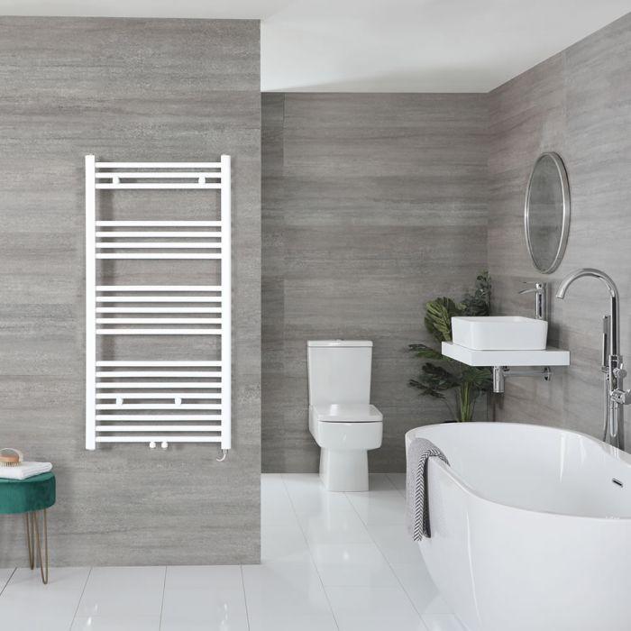 "Neva Electric - White Flat Towel Warmer - 46 3/4"" x 19 5/8"""