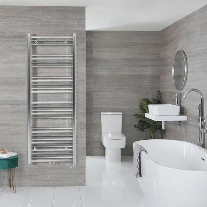 "Neva Electric - Chrome Flat Towel Warmer - 63"" x 19 5/8"""