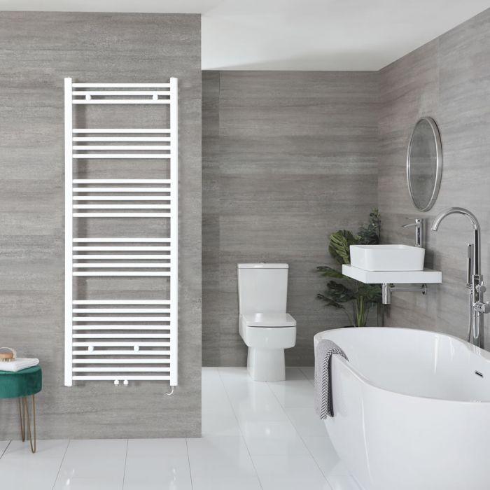 "Neva Electric - White Flat Towel Warmer - 63"" x 19 5/8"""