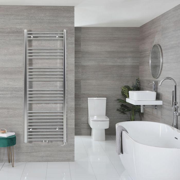 "Neva Electric - Chrome Flat Towel Warmer - 63"" x 23 5/8"""