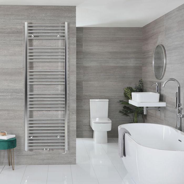 "Neva Electric - Chrome Flat Towel Warmer - 70 1/4"" x 23 5/8"""