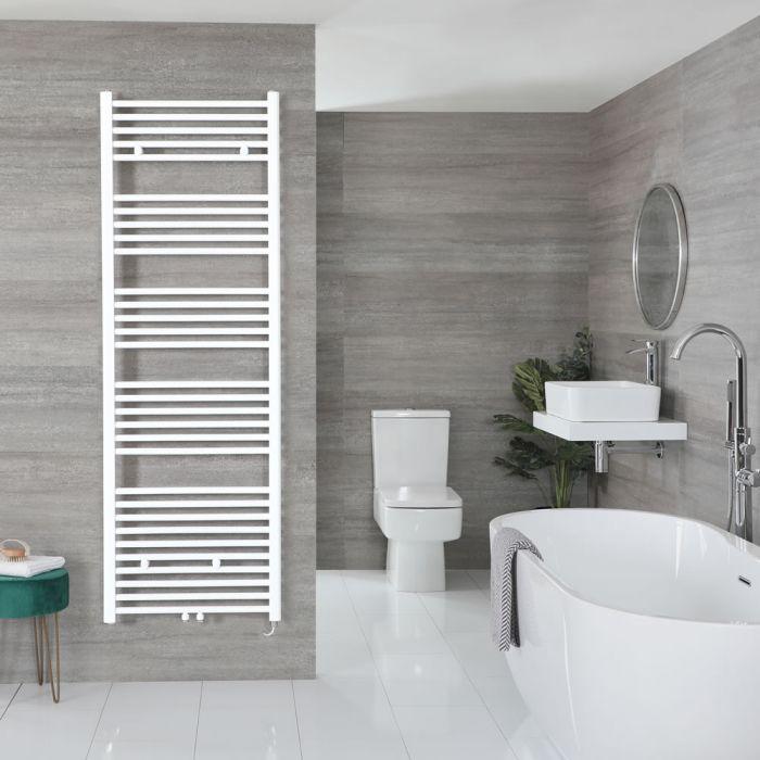 "Neva Electric - White Flat Towel Warmer - 70 1/4"" x 23 5/8"""