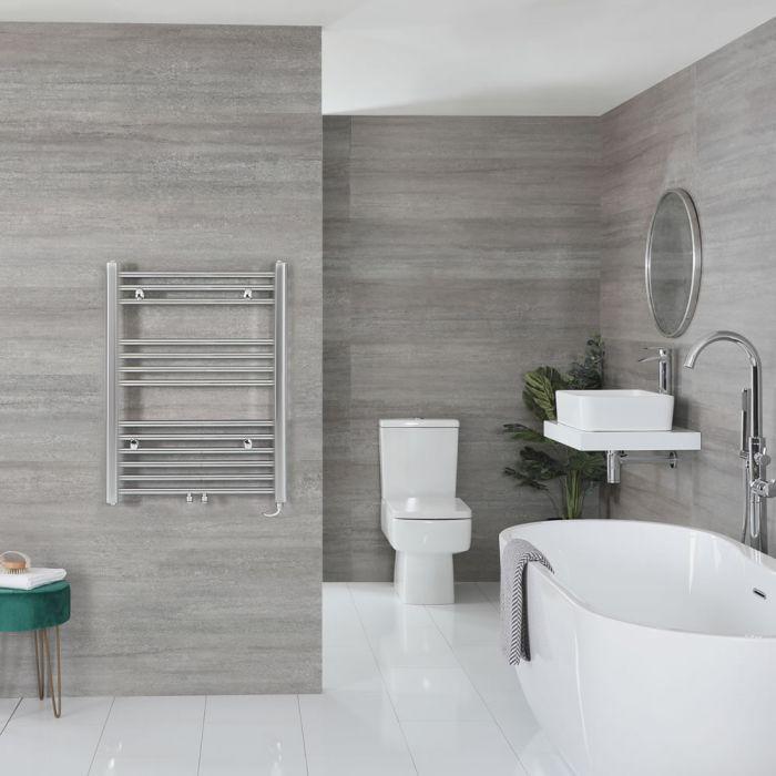 "Neva Electric - Chrome Flat Towel Warmer - 31 5/8"" x 23 5/8"""