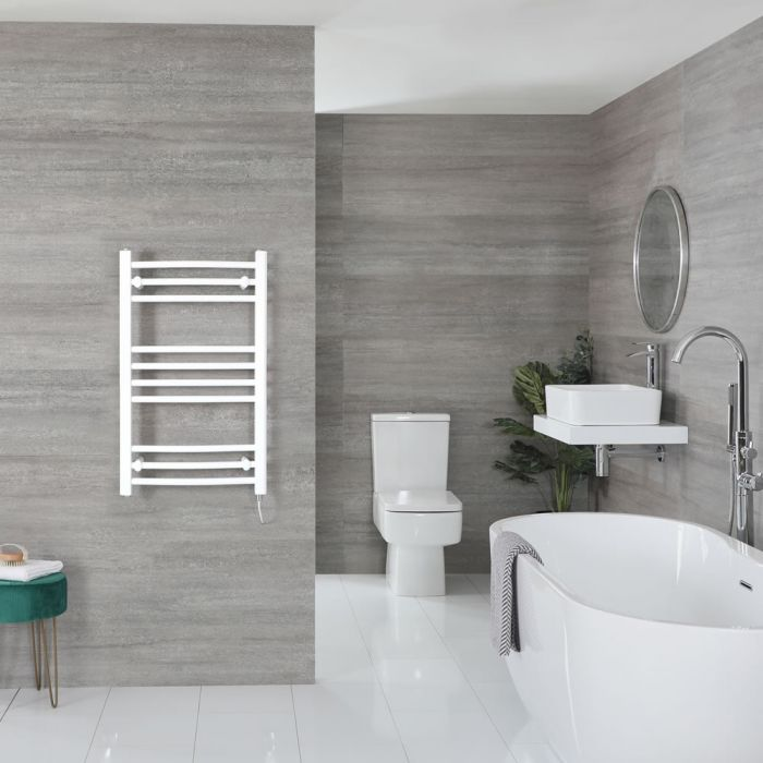 """Ive Electric - White Curved Towel Warmer - 31"""" x 20"""""""