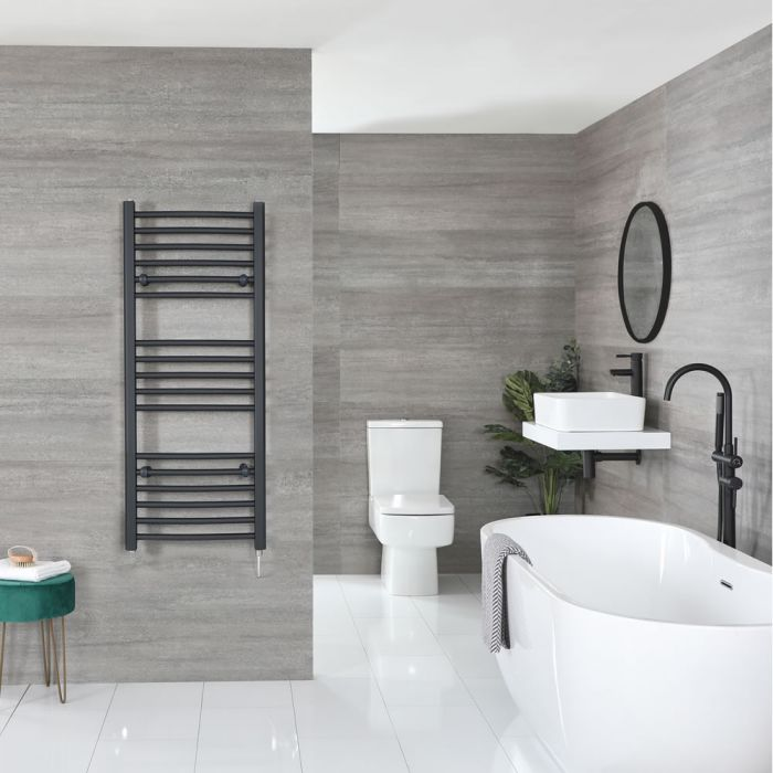 """Artle Electric - Anthracite Curved Towel Warmer - 47"""" x 20"""""""