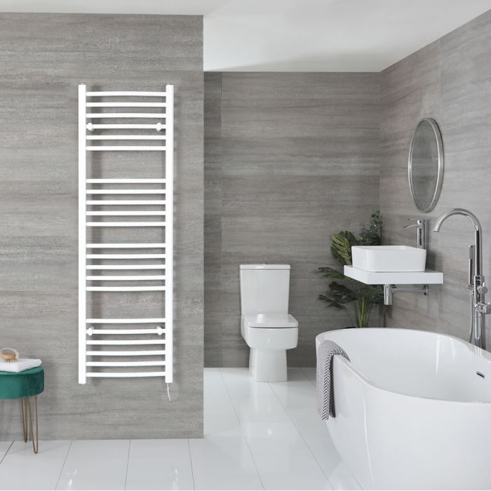 """Ive Electric - White Curved Towel Warmer - 63"""" x 20"""""""