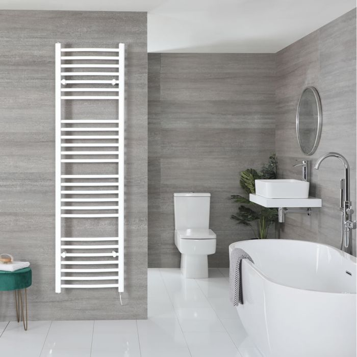 """Ive Electric - White Curved Towel Warmer - 71"""" x 20"""""""